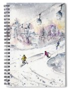 Skiing In The Dolomites In Italy 01 Spiral Notebook
