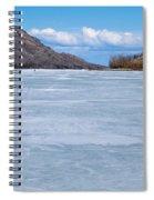 Skiing On Frozen Lake Laberge Yukon Canada Spiral Notebook