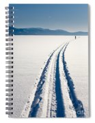 Skiing Person On Frozen Lake Spiral Notebook
