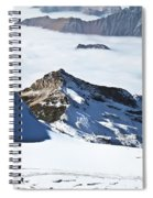 Skiing Down A Storm Spiral Notebook
