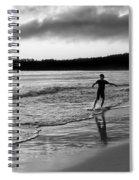 Skimboarder Sunser #1 - Black And White Spiral Notebook