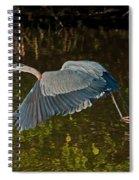 Skimming Great Heron Spiral Notebook