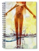 Skinny Dipping Spiral Notebook