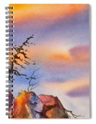 Skinny Trees Windy Day Spiral Notebook