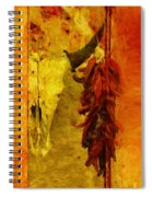 Skull And Peppers Spiral Notebook