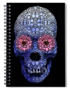 Skull Art - Day Of The Dead 1 Stone Rock'd Spiral Notebook
