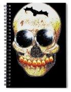 Skull Art In A Surrealism Definition Spiral Notebook
