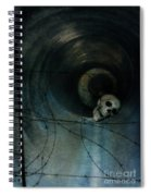 Skull In Drainpipe Spiral Notebook