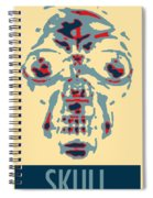 Skull In Negative Hope Spiral Notebook