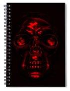 Skull In Red Spiral Notebook