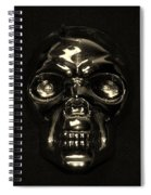 Skull In Sepia Spiral Notebook