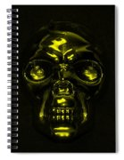 Skull In Yellow Spiral Notebook