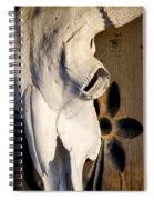 Skull On Door Spiral Notebook