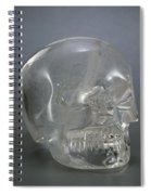 Skull Rock Crystal Spiral Notebook