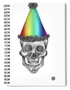 Skull With Rainbow Hat Spiral Notebook