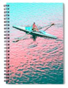Skulling Boat At Sunset Spiral Notebook