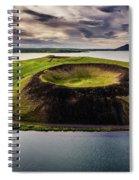 Skutustadagigar Pseudo Craters, Lake Spiral Notebook