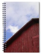 Sky And Barn Spiral Notebook
