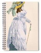 Sky Blue Promenade Dress With Green Spiral Notebook