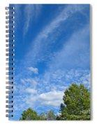 Sky Blue Summer Art Spiral Notebook