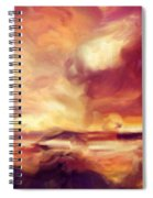 Sky Fire Abstract Realism Spiral Notebook