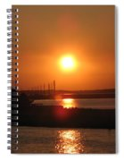 Sky On Fire Over Chincoteague Island Spiral Notebook