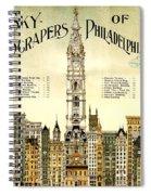 Sky Scrapers Of Philadelphia 1896 Spiral Notebook