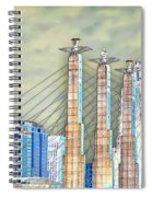 Sky Stations Pylon Caps - Downtown Kansas City Missouri Spiral Notebook
