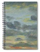 Sky Study, Sunset, 1821-22 Spiral Notebook