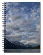 Sky Water Mountains Spiral Notebook