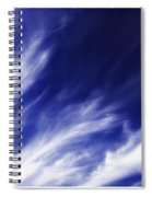 Sky Wisps Blue Spiral Notebook