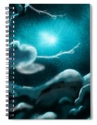 Sky With Romantic Rainy Cloud Spiral Notebook