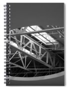 Skylight Gurders In Black And White Spiral Notebook