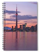 Skyline At Dusk From Centre Island Spiral Notebook