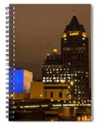 Skyline At The Milwaukee River Spiral Notebook
