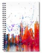 Skyline Citiscape Spiral Notebook