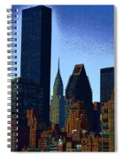 Skyline From Roosevelt Island Spiral Notebook