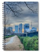 Skyline Of A Big City In South - Charlotte Nc Spiral Notebook