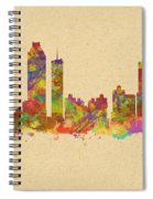 skyline of Atlanta Georgia Spiral Notebook