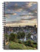 Skyline Of Edinburgh Scotland Spiral Notebook