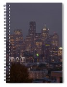 Skylines At Dusk, Seattle, King County Spiral Notebook