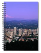 Skylines In A City With Mt Hood Spiral Notebook