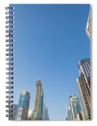 Skyscrapers Along Sheikh Zayed Road Spiral Notebook