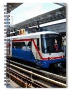 Skytrain Carriage Metro Railway At Nana Station Bangkok Thailand Spiral Notebook