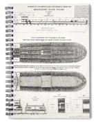 Slave Ship Middle Passage Stowage Diagram  1788 Spiral Notebook