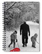 Sledding With Dad Spiral Notebook