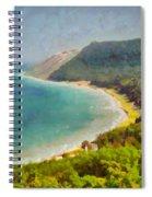 Sleeping Bear Dunes Lakeshore View Spiral Notebook