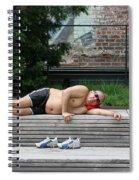 Sleeping Beauty On The High Line Spiral Notebook