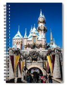 Sleeping Beauty's Castle Spiral Notebook