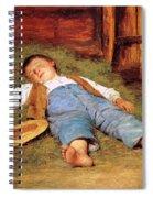 Sleeping Boy In The Hay Spiral Notebook